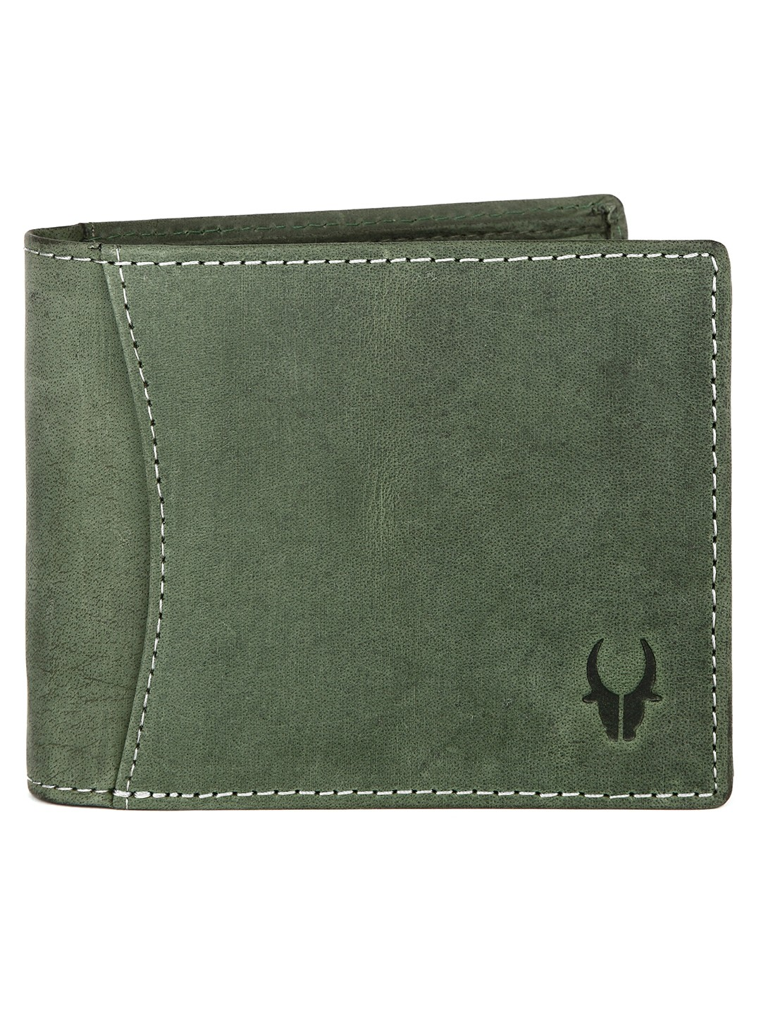 WildHorn | WildHorn RFID Protected High Quality Genuine Leather Green Wallet for Men
