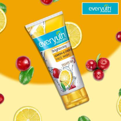 Everyuth Naturals | Everyuth Naturals Brightening Lemon and Cherry Face Wash  (50gx3)