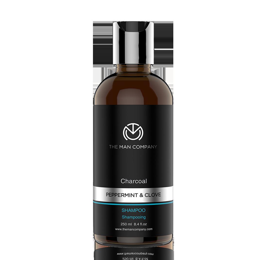 The Man Company | Charcoal Pepper Mint & Clove Shampoo - 250 ML