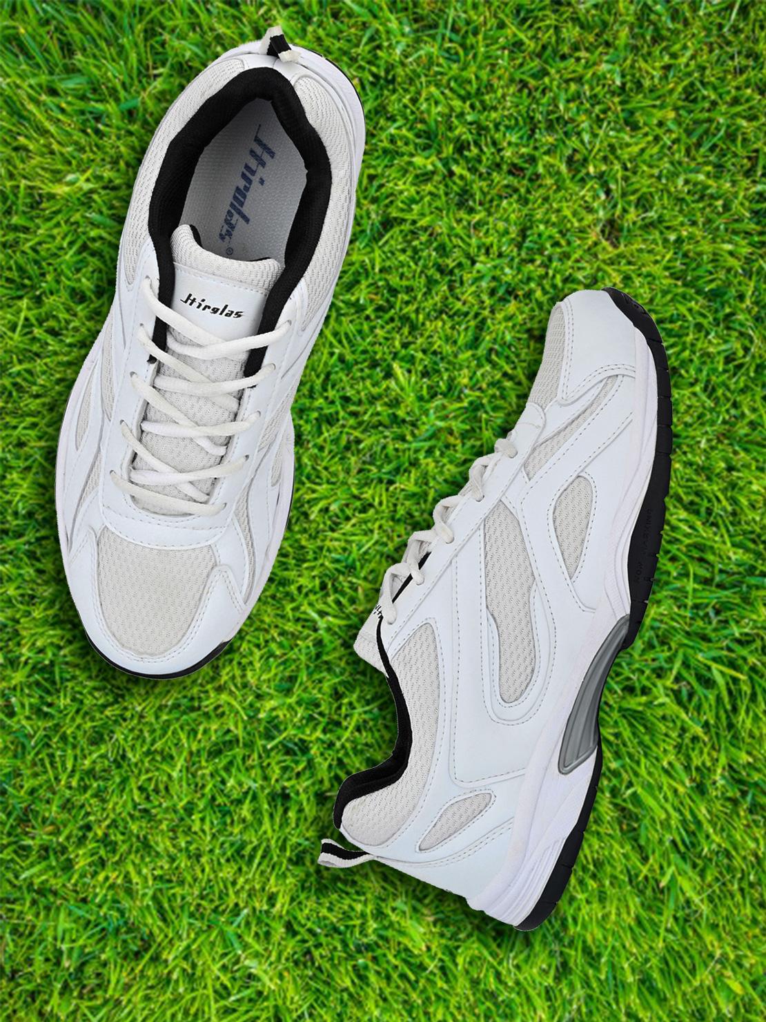 Hirolas   Hirolas® Multi Sport Shock Absorbing Walking  Running Fitness Athletic Training Gym Sneaker Shoes - White