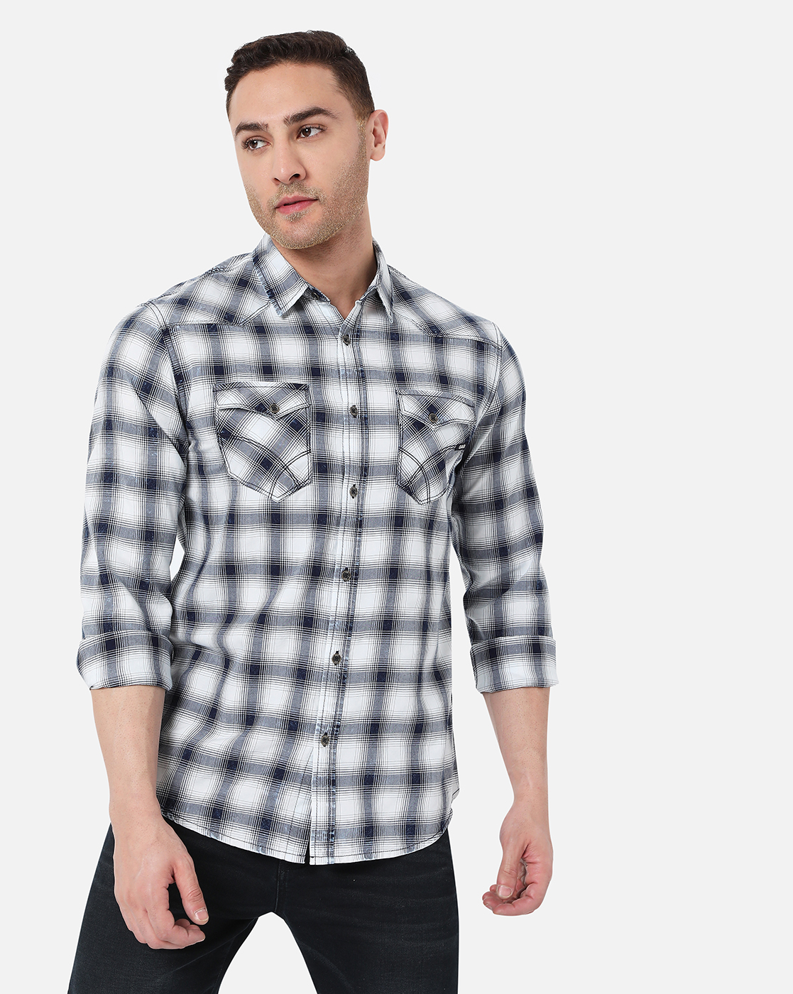 GAS | Men's Kant Ec In Slim Fit Checkered shirt