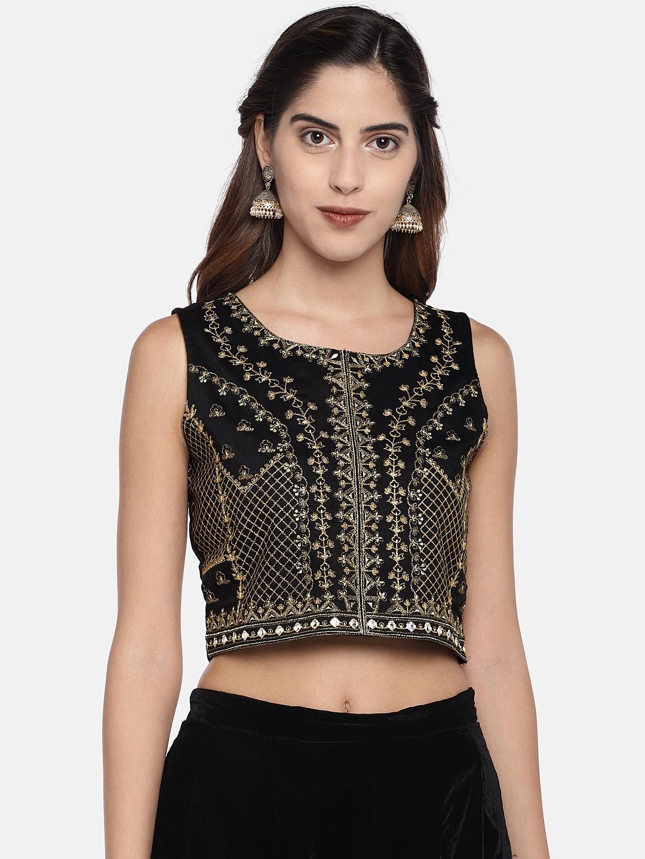 Ethnicity | Ethnicity Black Silk Slub Women Top