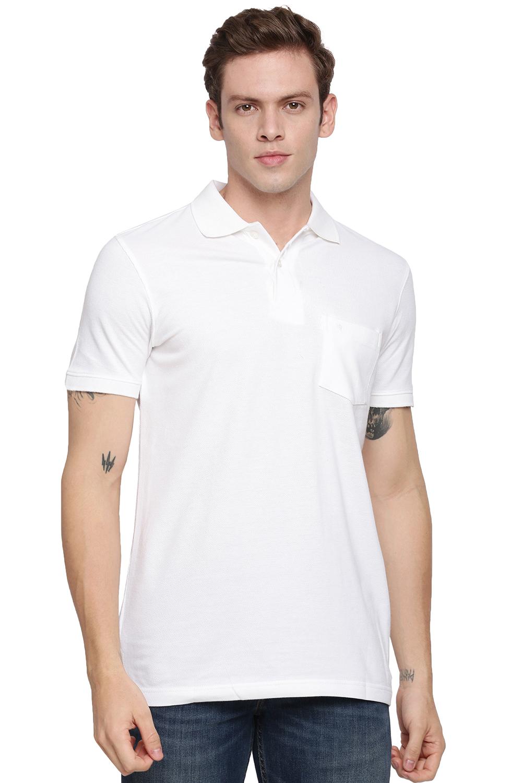 Unibro | Unibro Pique White T-shirt with pocket