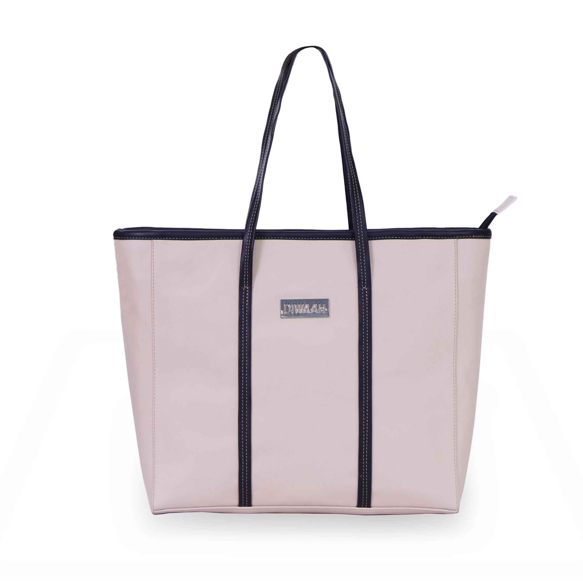 DIWAAH   Diwaah Pink Color Casual Tote Bag