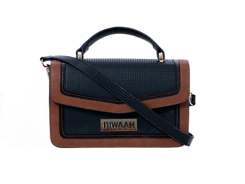 DIWAAH | Diwaah Black Color Casual Handheld