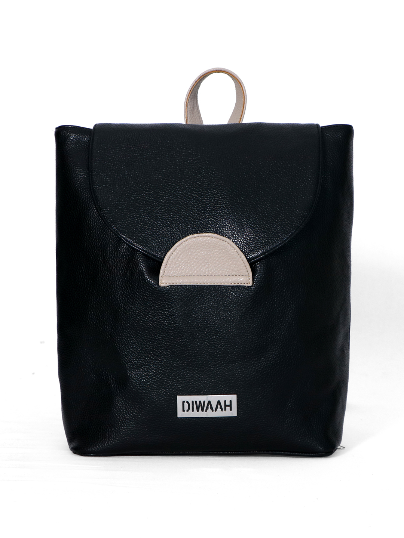 DIWAAH | Diwaah Black Color Casual Backpack