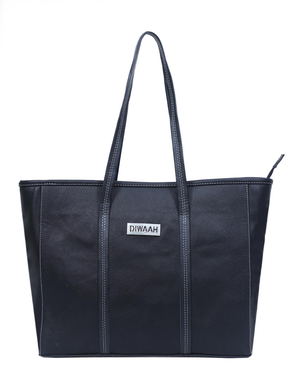DIWAAH   Diwaah Black Color Casual Tote Bag