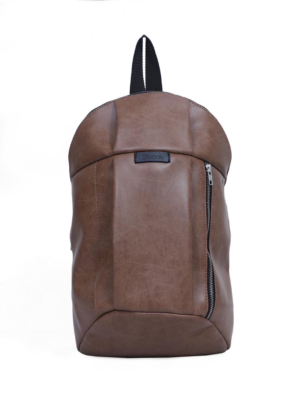 DIWAAH   Diwaah Brown Color Casual Backpack