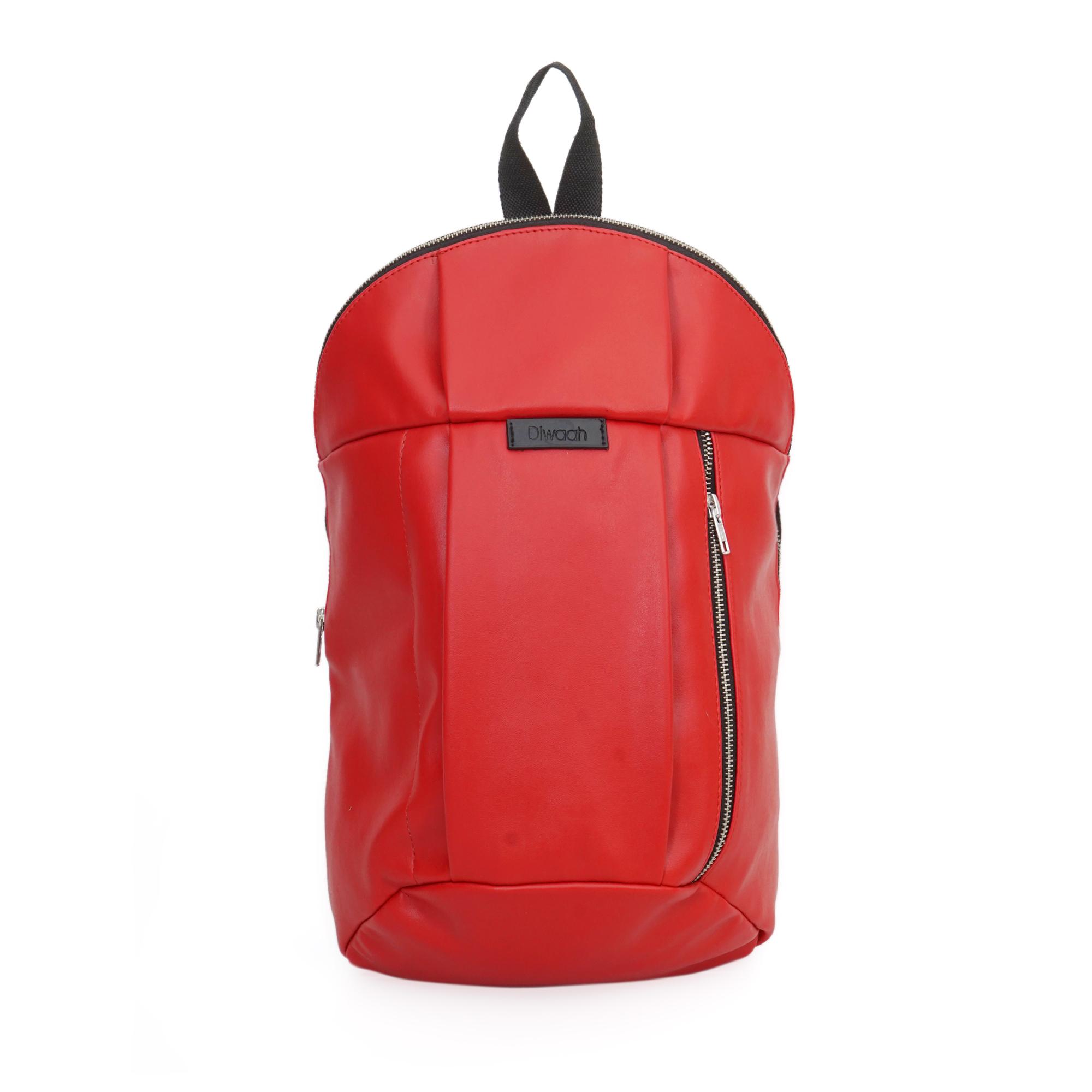 DIWAAH | Diwaah Red Color Casual Backpack