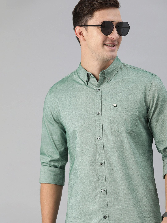 The Bear House | Men's Green Button-Down Shirt