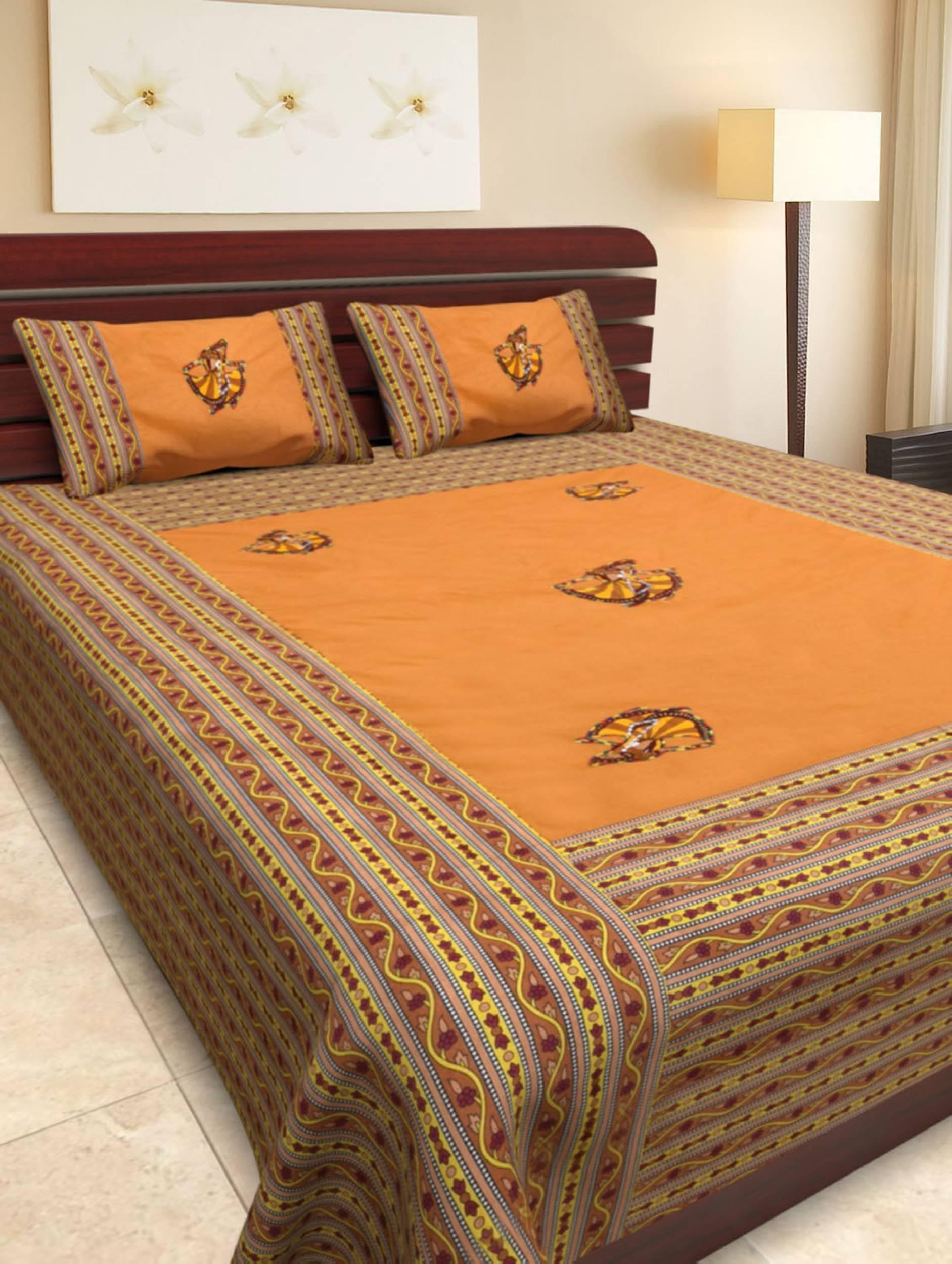 Pinkblock.in   Multi Cotton Patchwork Bedsheet