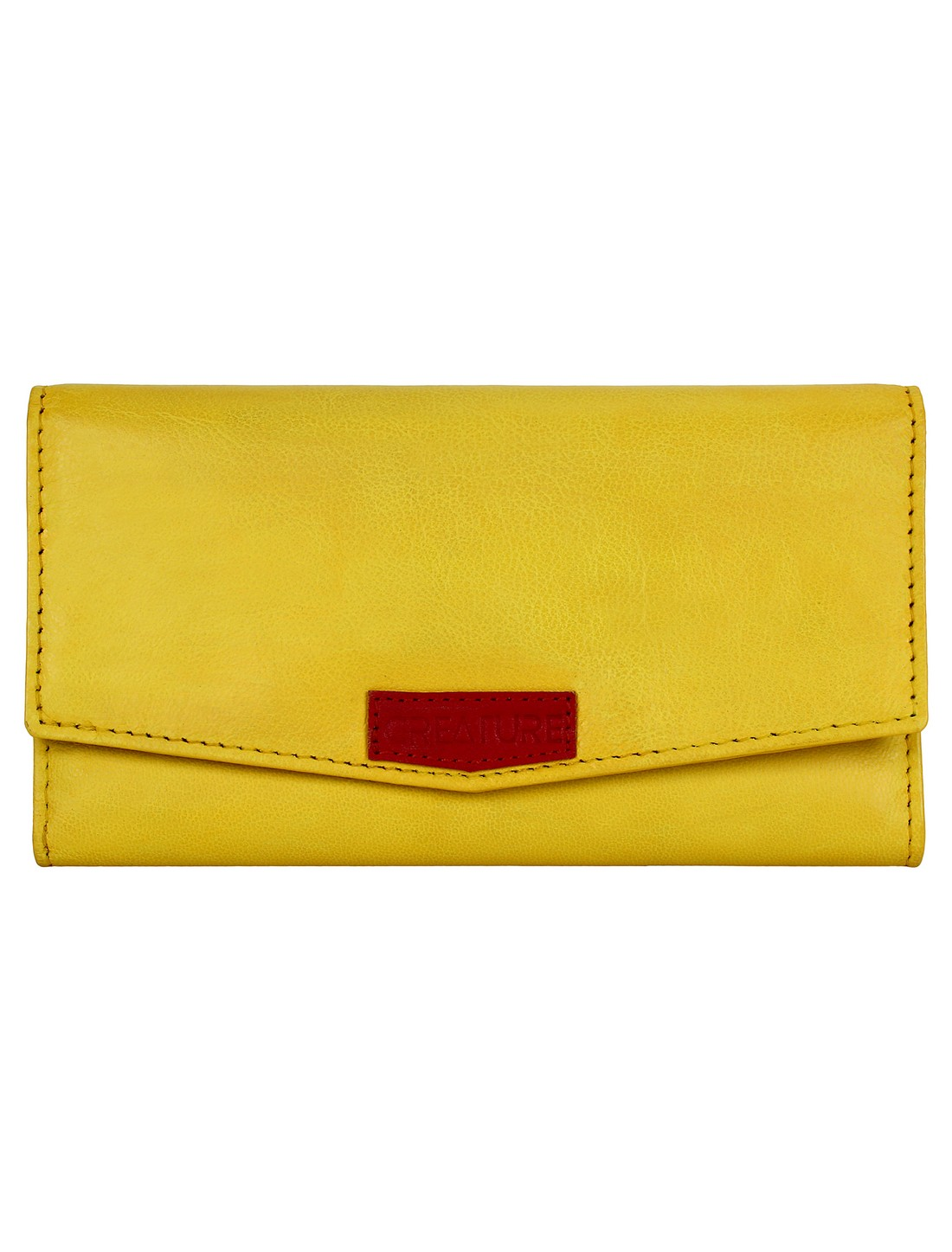 CREATURE | CREATURE Yellow Stylish Genuine Leather Clutch for Women