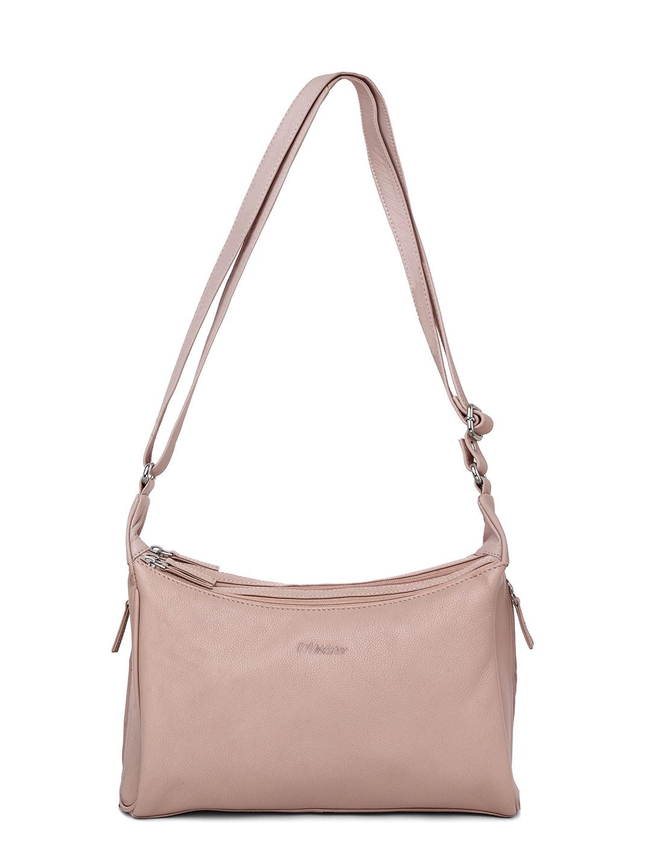 WildHorn   WildHorn Upper Grain Genuine Leather Ladies Sling, Cross-body, Hand Bag with Adjustable Strap - Pink