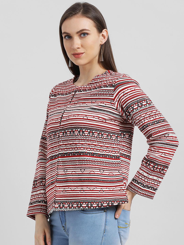 Zink London | Zink London Women's Multi-Colored Striped Tailored Jacket