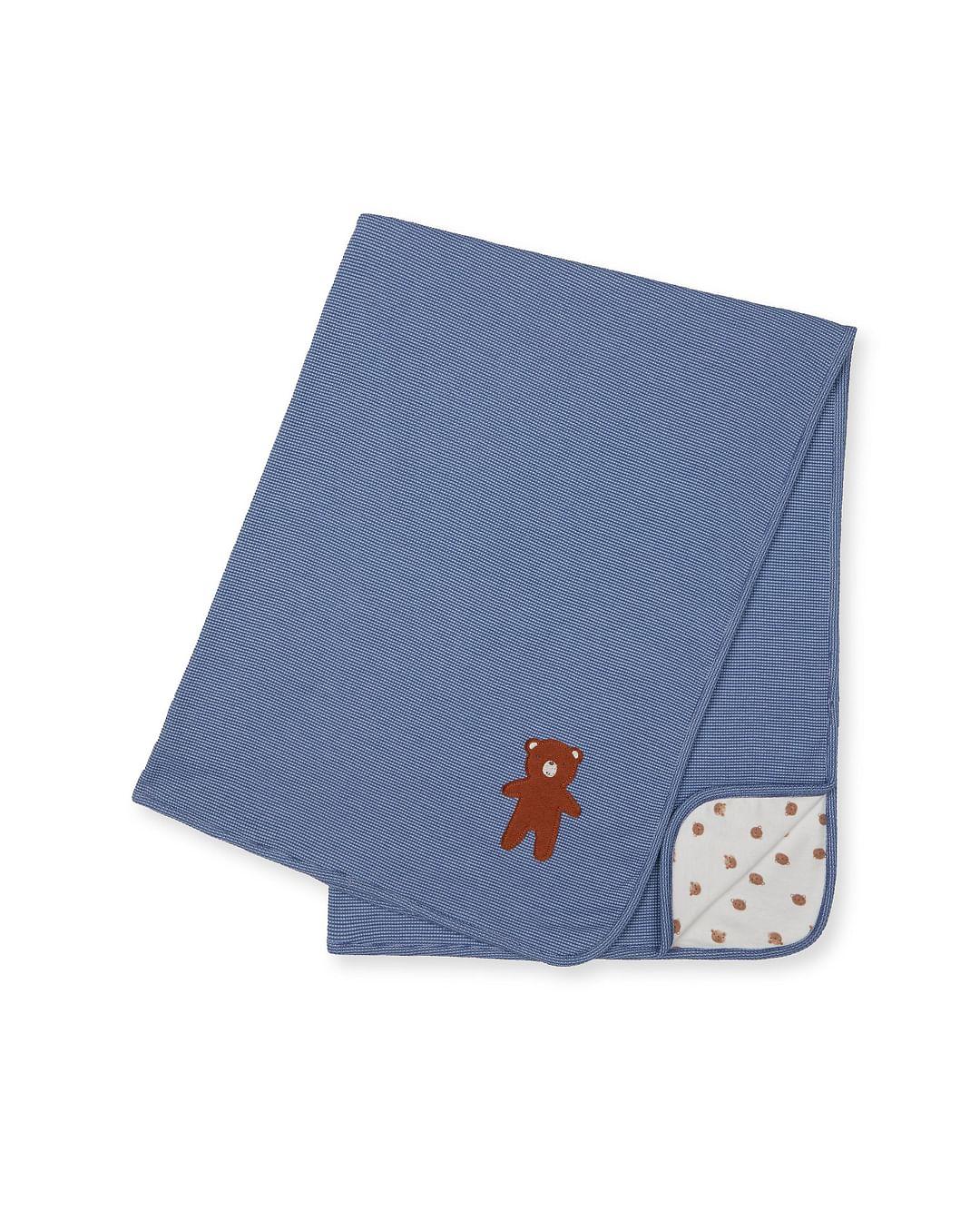Mothercare   Blue Teddy Bear Shawl