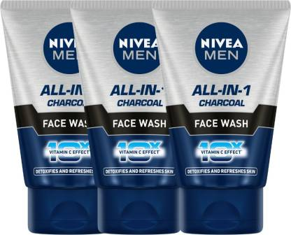 Nivea | NIVEA All In 1 Charcoal Face Wash - Pack of 3 Face Wash