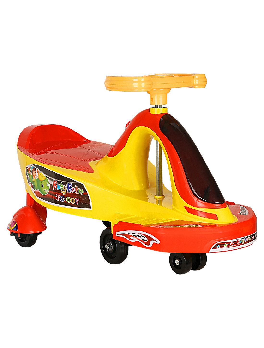 CREATURE | Creature Yellow Twist Ride-On Cars Toy Vehicle for Kids