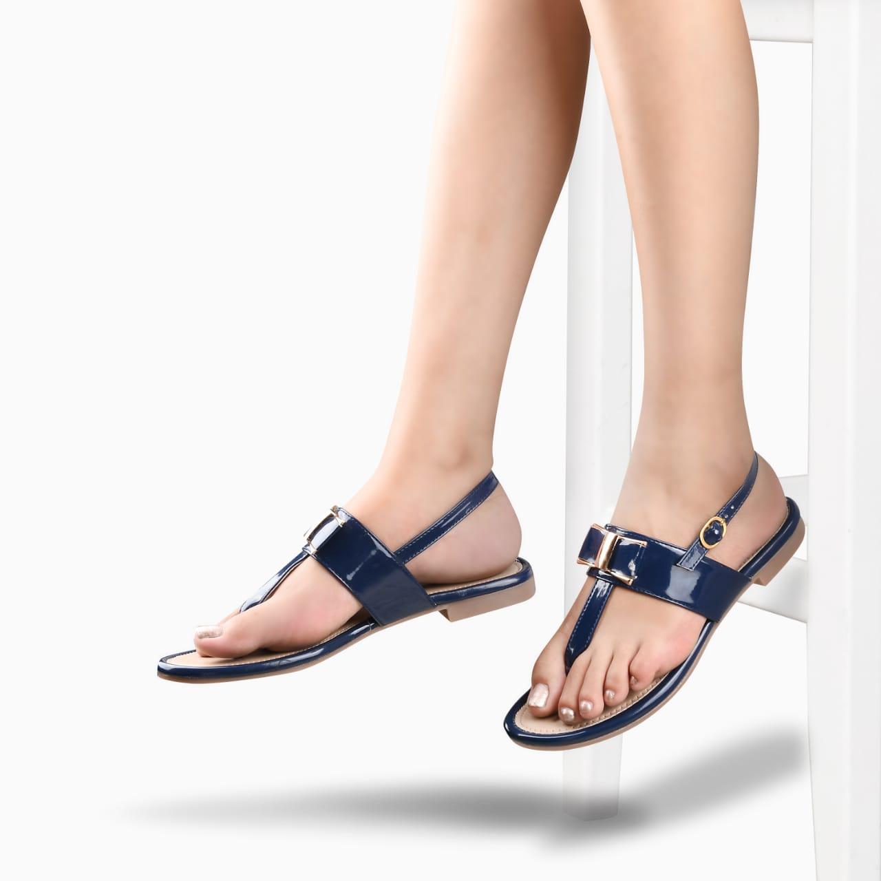 SALARIO | Salario Sling Back Bow Detail Flat Sandals