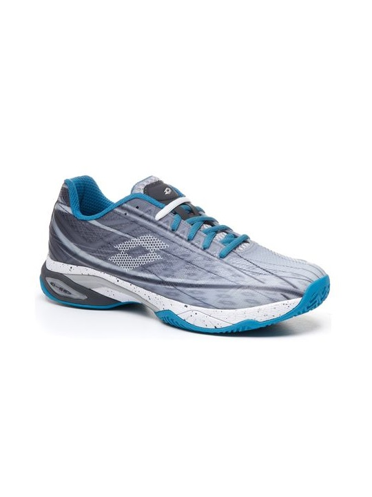 Lotto | Lotto Men's Mirage 300 Cly Silver Metal 2/All White/Mosaic Blue Tennis Shoes