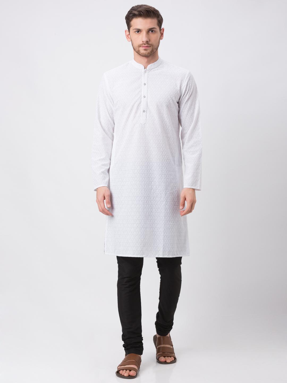 Ethnicity | Ethnicity White Polyester Cotton Kp Set