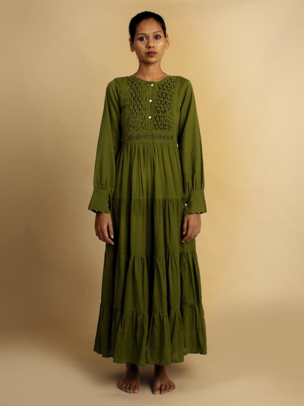 OurDve | DHARI DRESS - GREEN