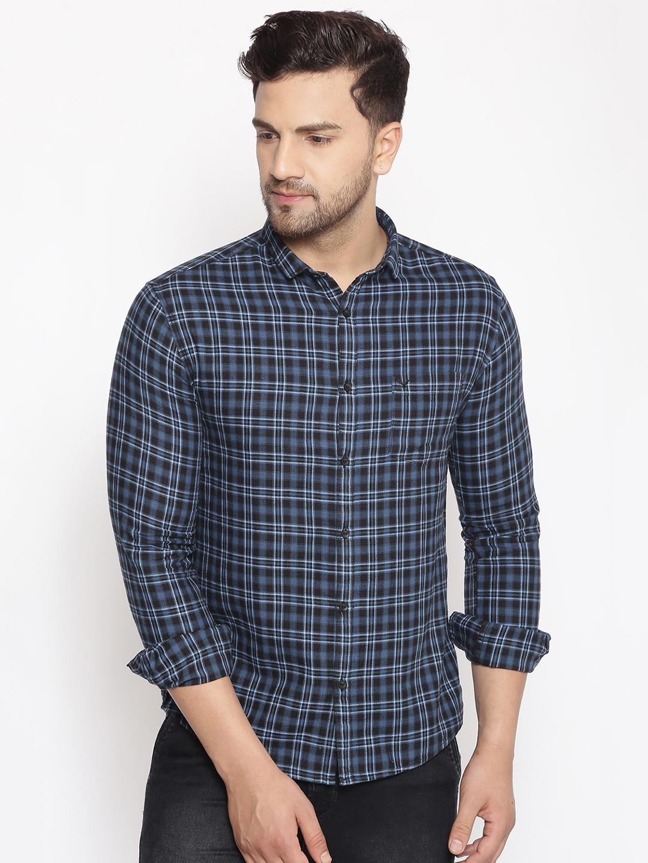 Showoff | SHOWOFF Men's  Cotton  Blue Printed Slim Fit Shirt