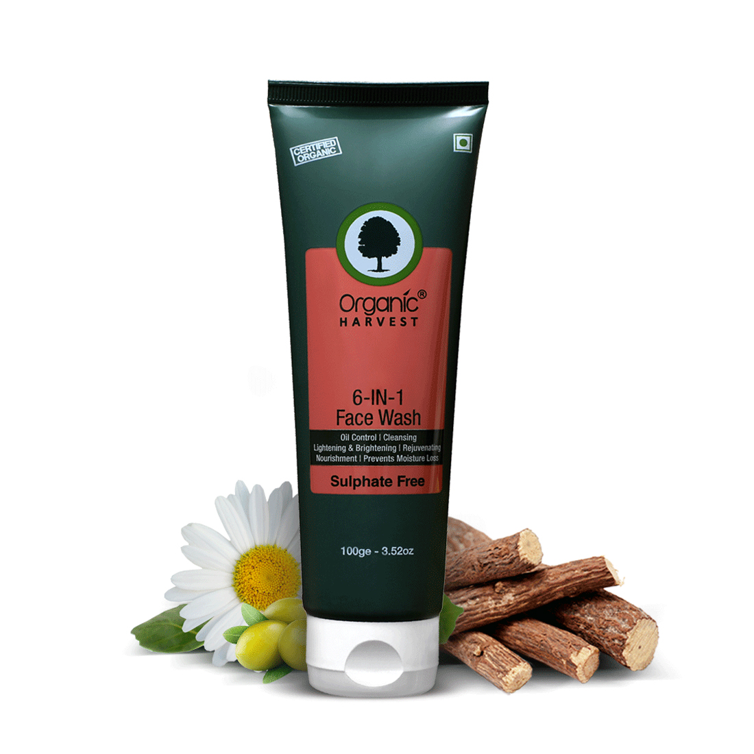 Organic Harvest | 6-in-1 Sulphate Free Face Wash - 100ml