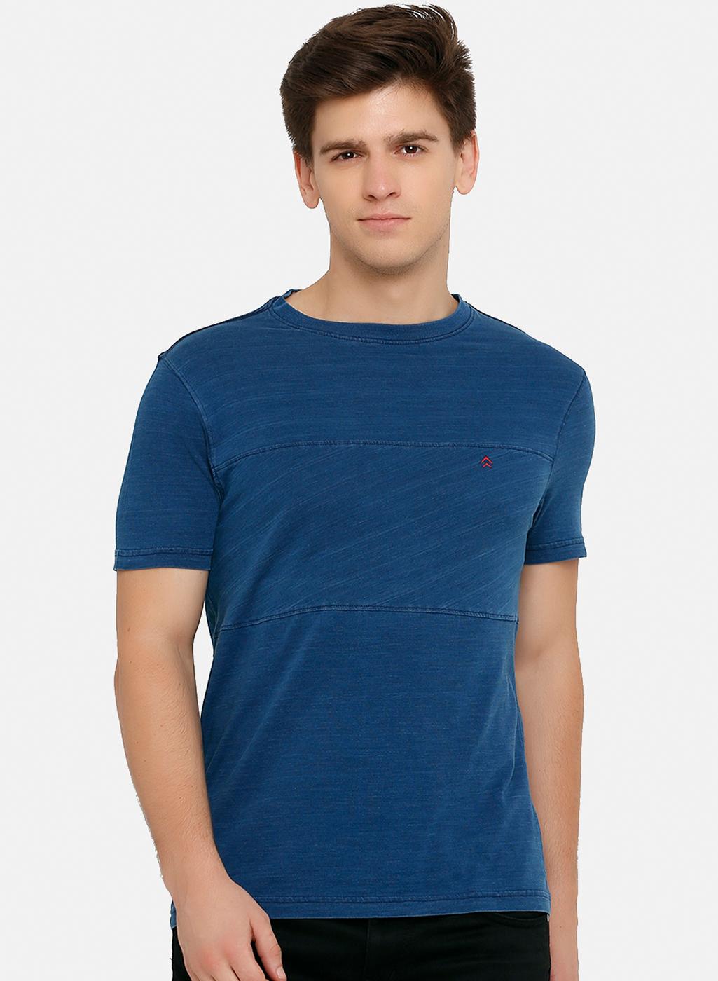 Steenbok | Steenbok Navy Blue Short Sleeves Round Neck Tshirt