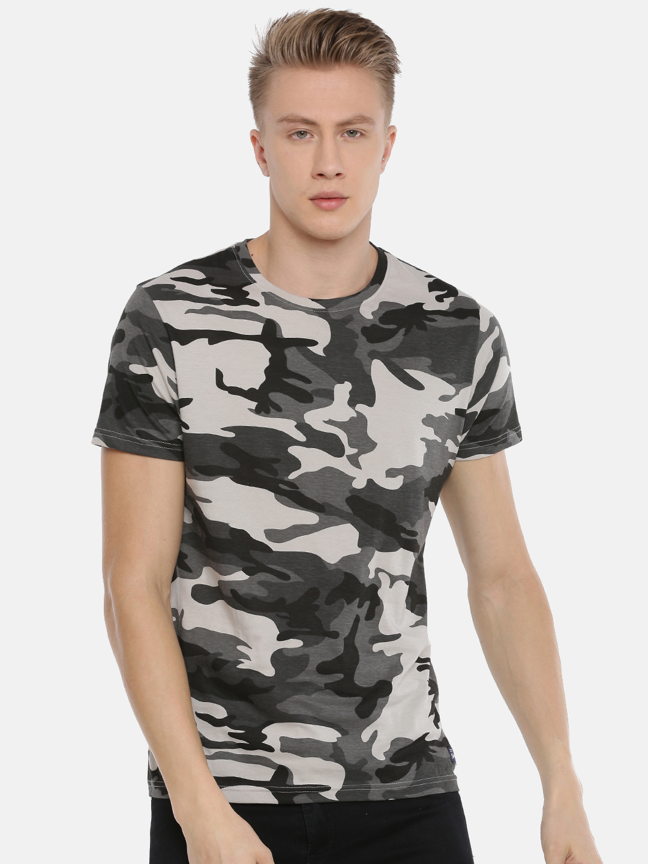 Steenbok   Steenbok Men's Grey Camo Crew Neck T-Shirt