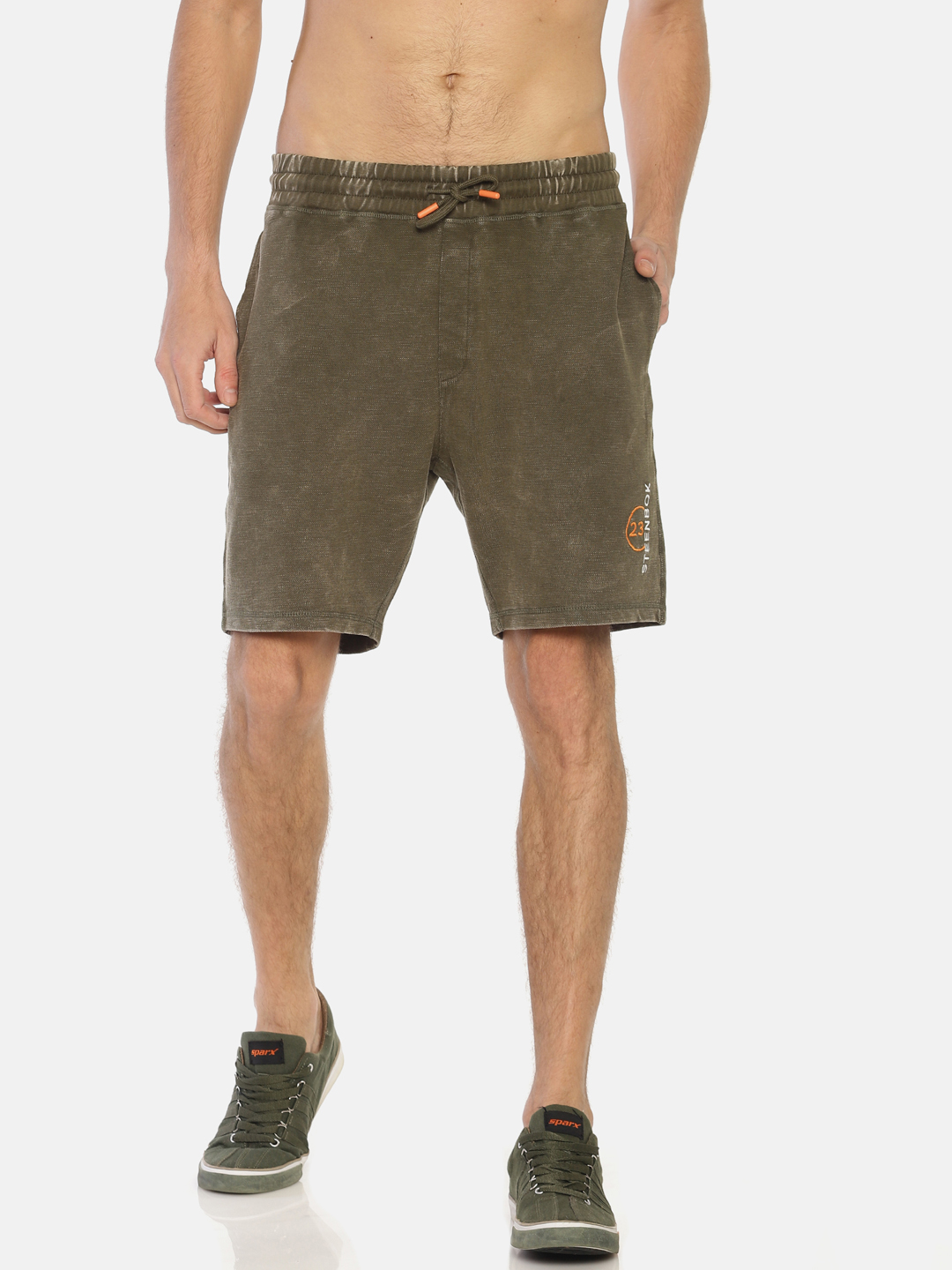 Steenbok | Men's Solid Washed Casual Shorts