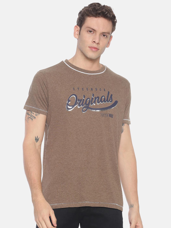 Steenbok   Men's Round Neck T-shirt