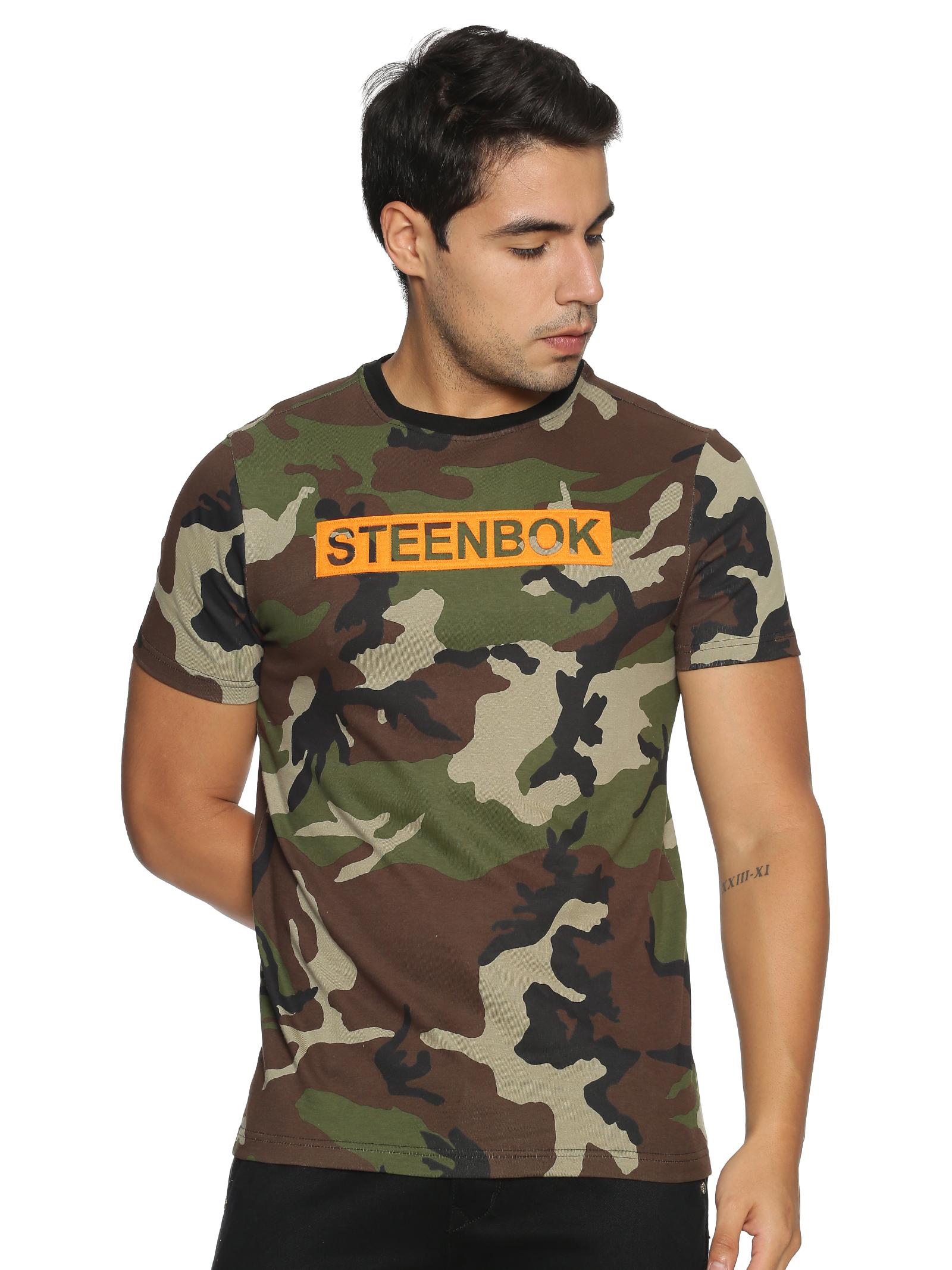 Steenbok | Men's Camo Printed t-shirt