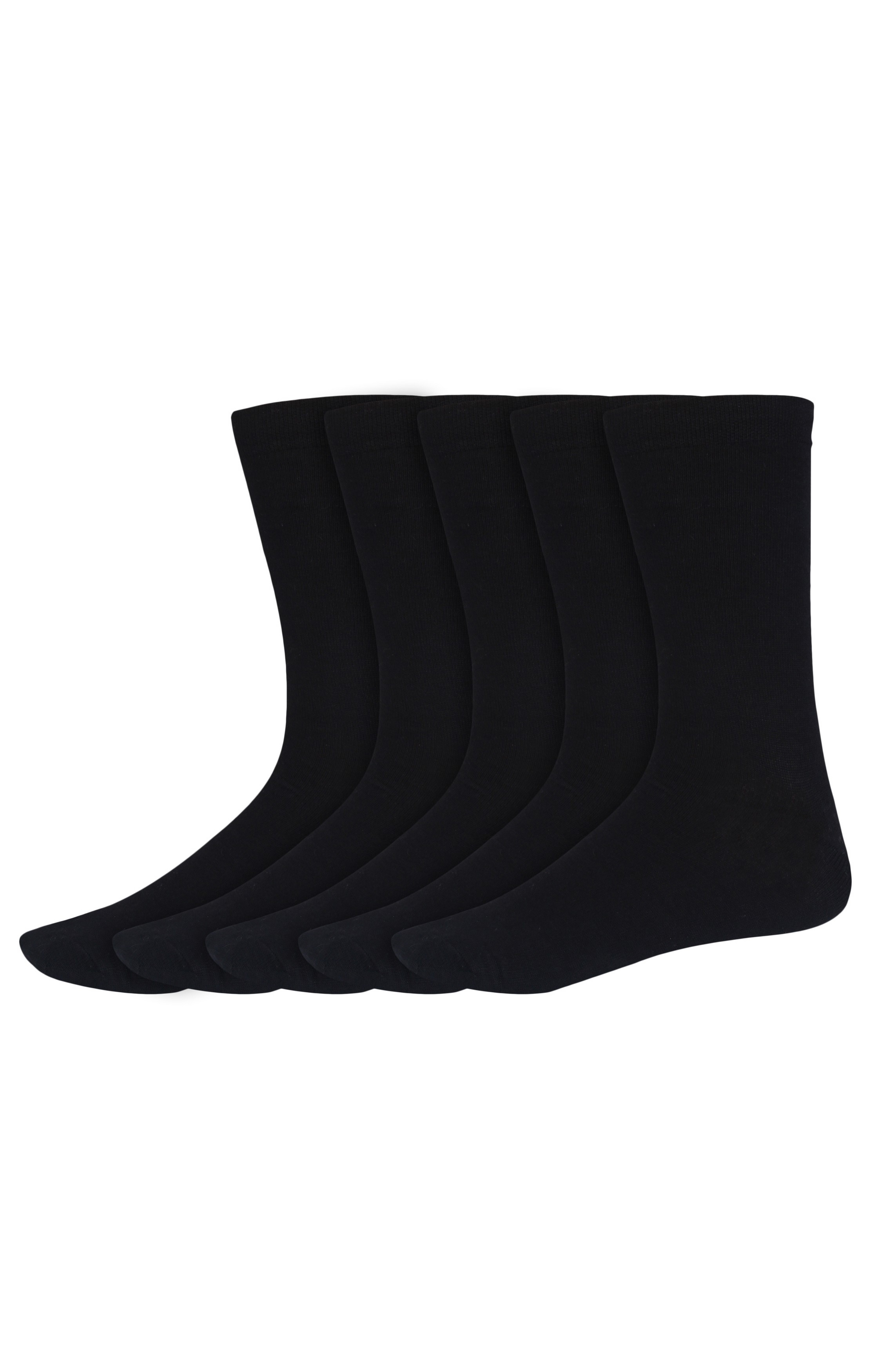 SIDEWOK | SIDEWOK Calf Length Solid Multicolour Cotton Socks for Men (Pack of 5 Pairs)