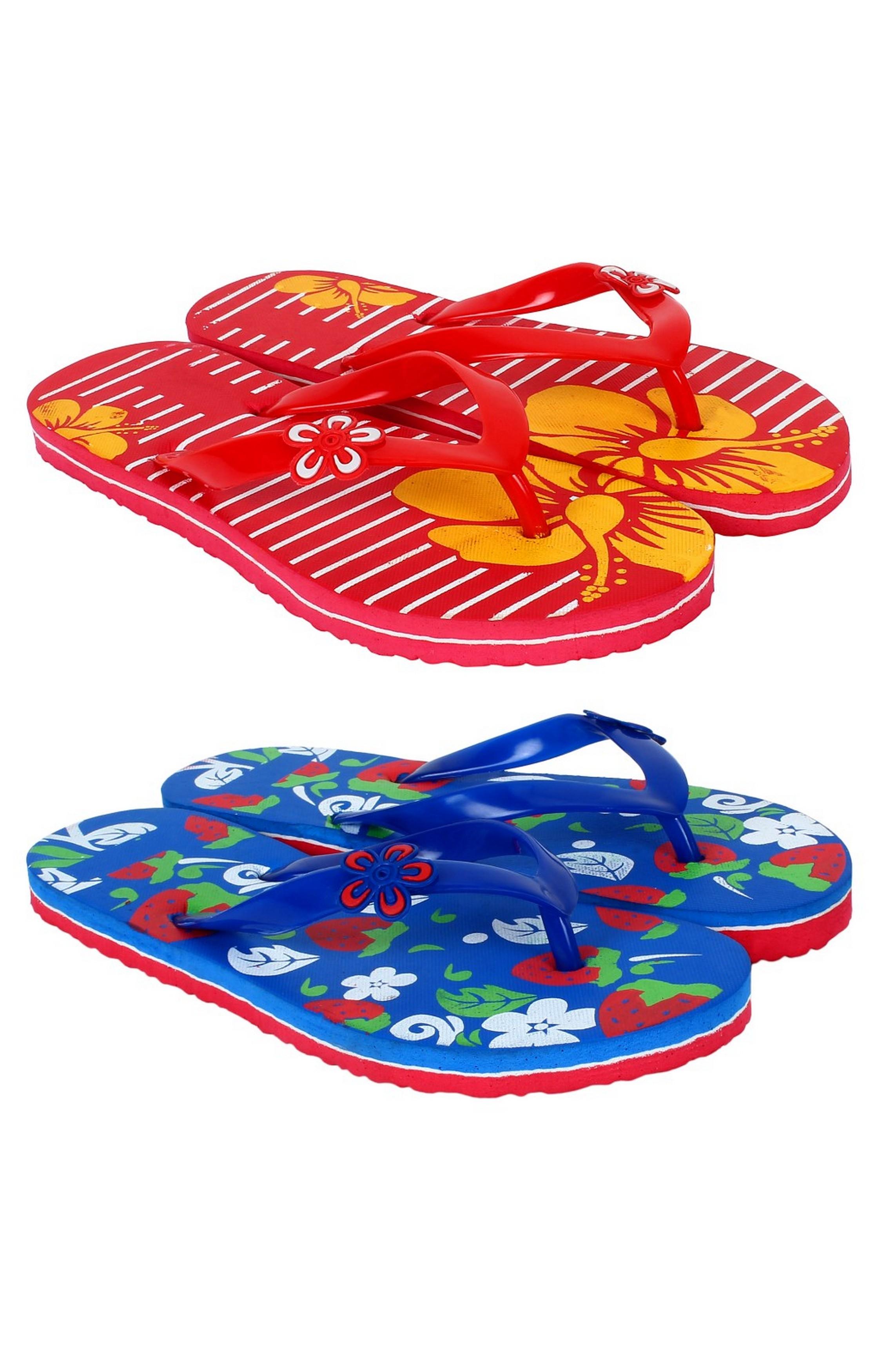 SIDEWOK   SIDEWOK Women's Multicolored Slippers