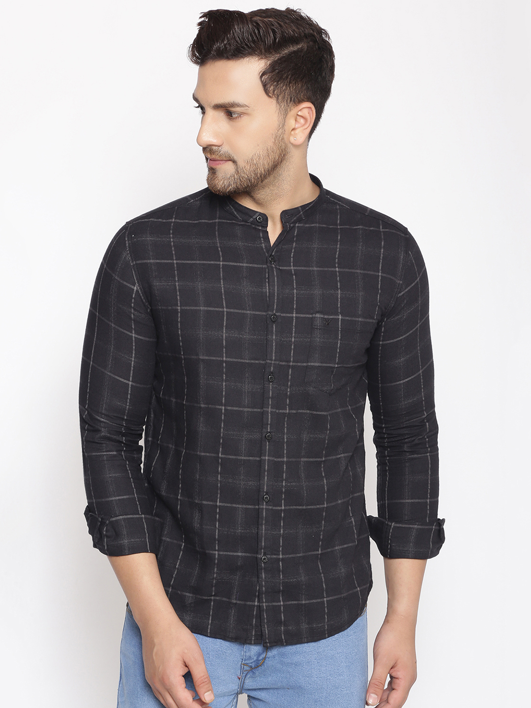 Showoff | SHOWOFF Men's  Cotton  Grey Printed Slim Fit Shirt