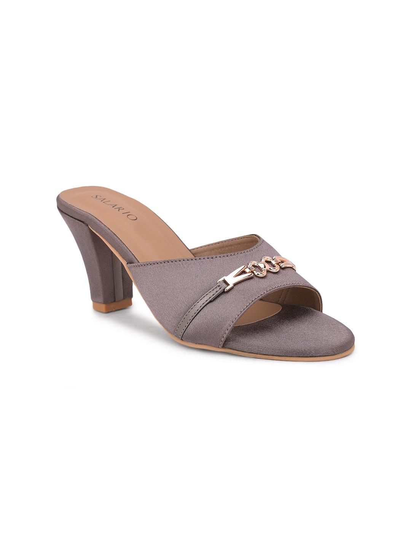 SALARIO | Salario Textured Slip-On Kitten Heeled Sandals