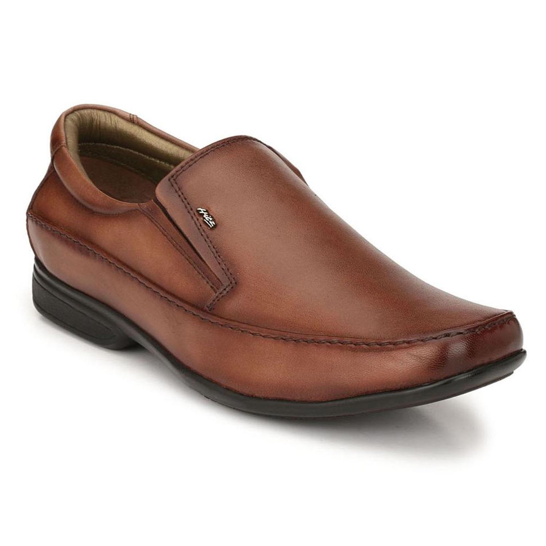 Hitz   Hitz Brown Leahter Comfort_ Slip-On Shoes For Men