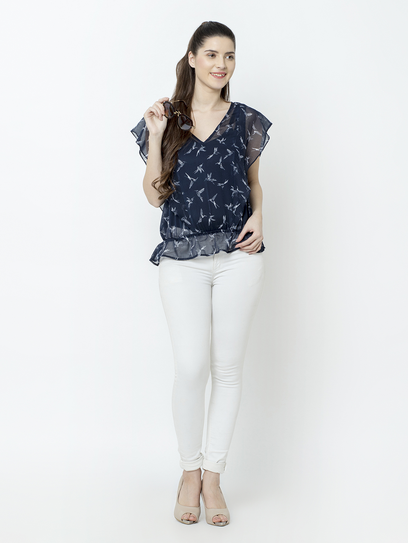 SQew | SQew Women Polyester Blue Tops