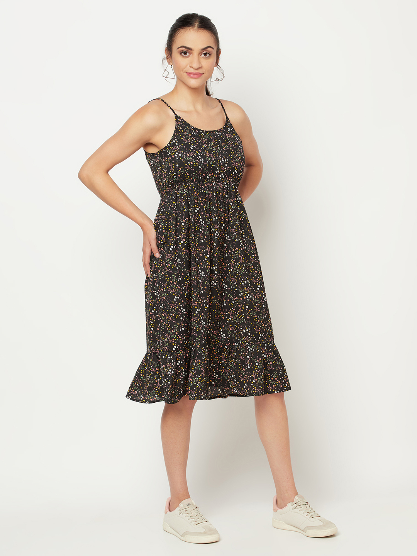 SQew | SQEW Black 100% polyester Womens Dress