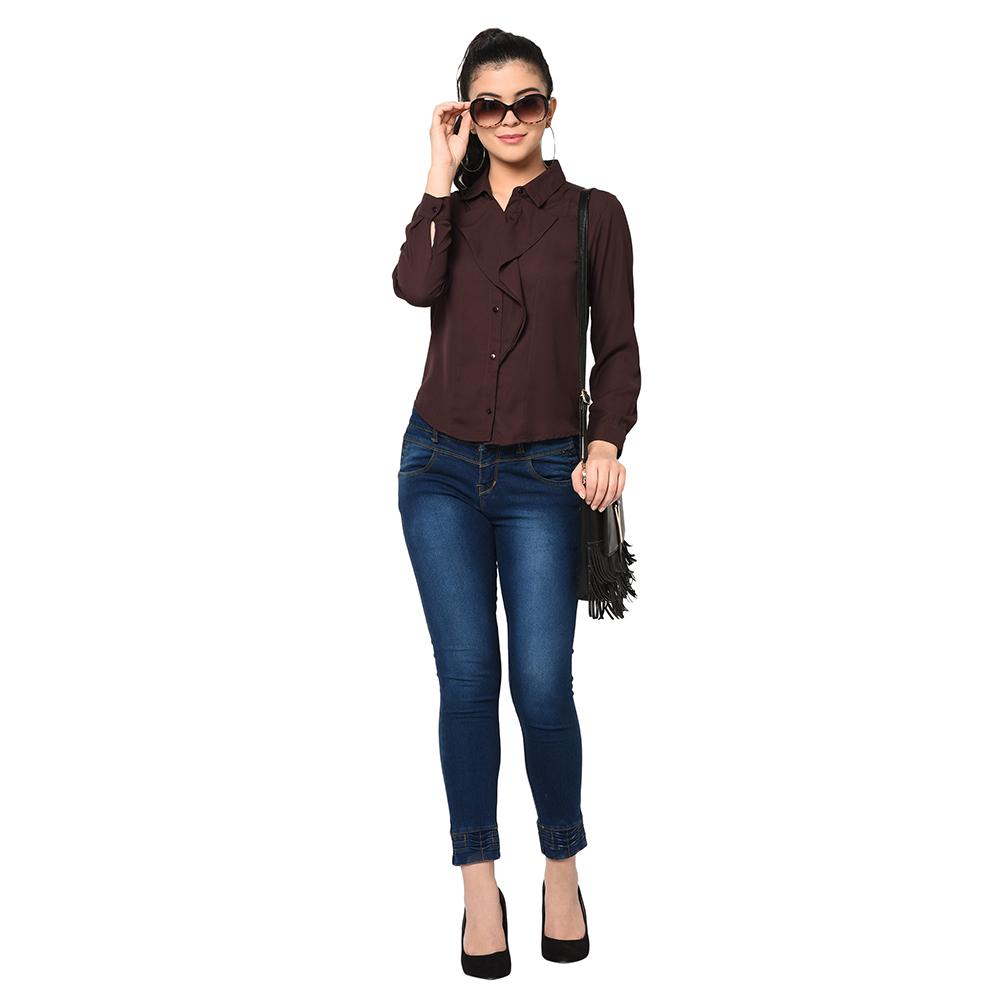 SQew | SQew Women Polyester Brown Tops