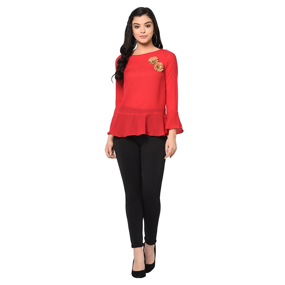 SQew | SQew Women Polyester Red Tops