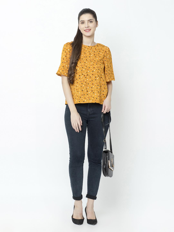 SQew | SQew Women Polyester Yellow Tops