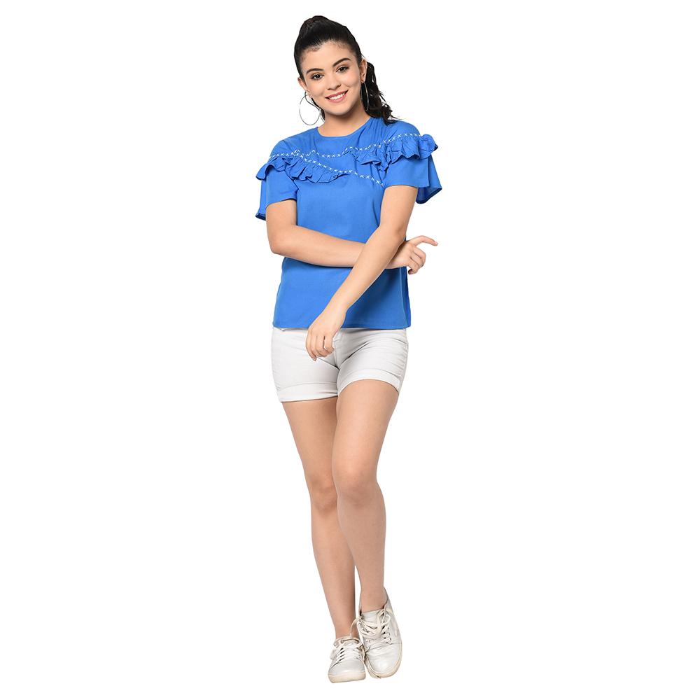 SQew | SQew Women Viscose Blue Tops