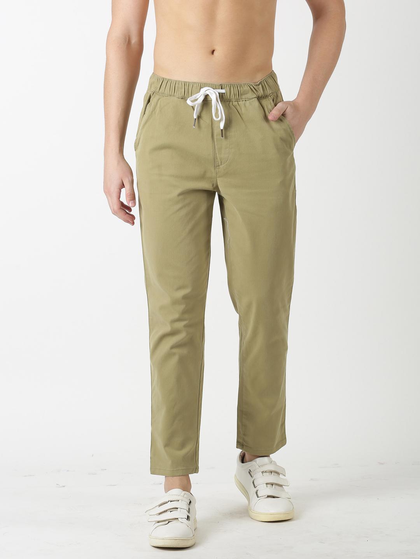 Blue Saint   Blue Saint Men's Solids Brown Trouser