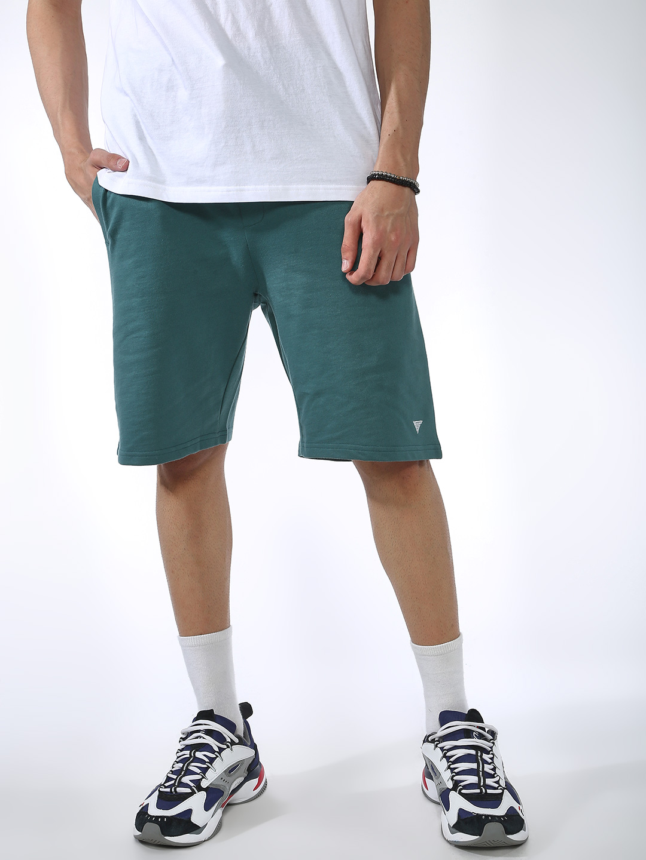Blue Saint | Blue Saint Men's Green Regular Fit Shorts