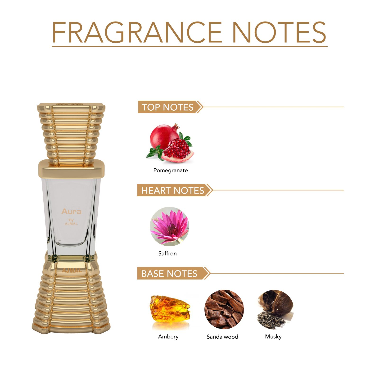 Ajmal | Ajmal Aura Concentrated Perfume Oil Floral Fruity Alcohol-free Attar 10ml for Unisex and Avid Homme Deodorant Aquatic Woody Fragrance 200ml for Men + 2 Parfum Testers FREE