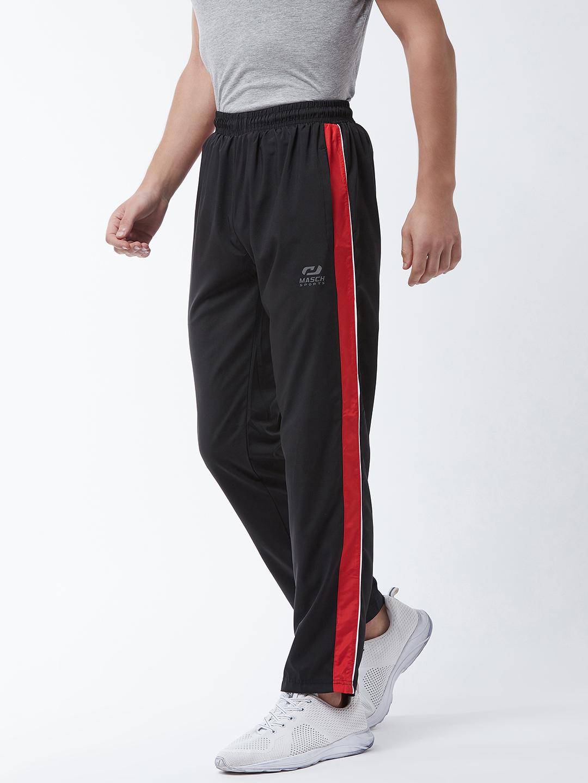 Masch Sports | Masch Sports Black Solid Trackpants