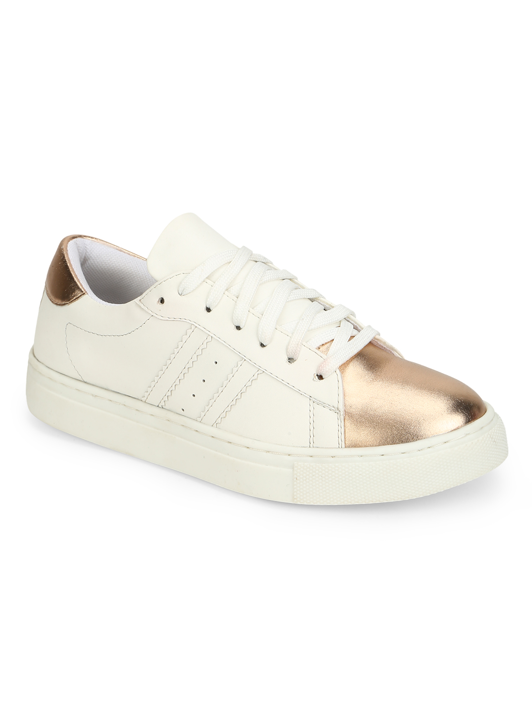 Truffle Collection | Truffle Collection White Rosegold PU Trainers