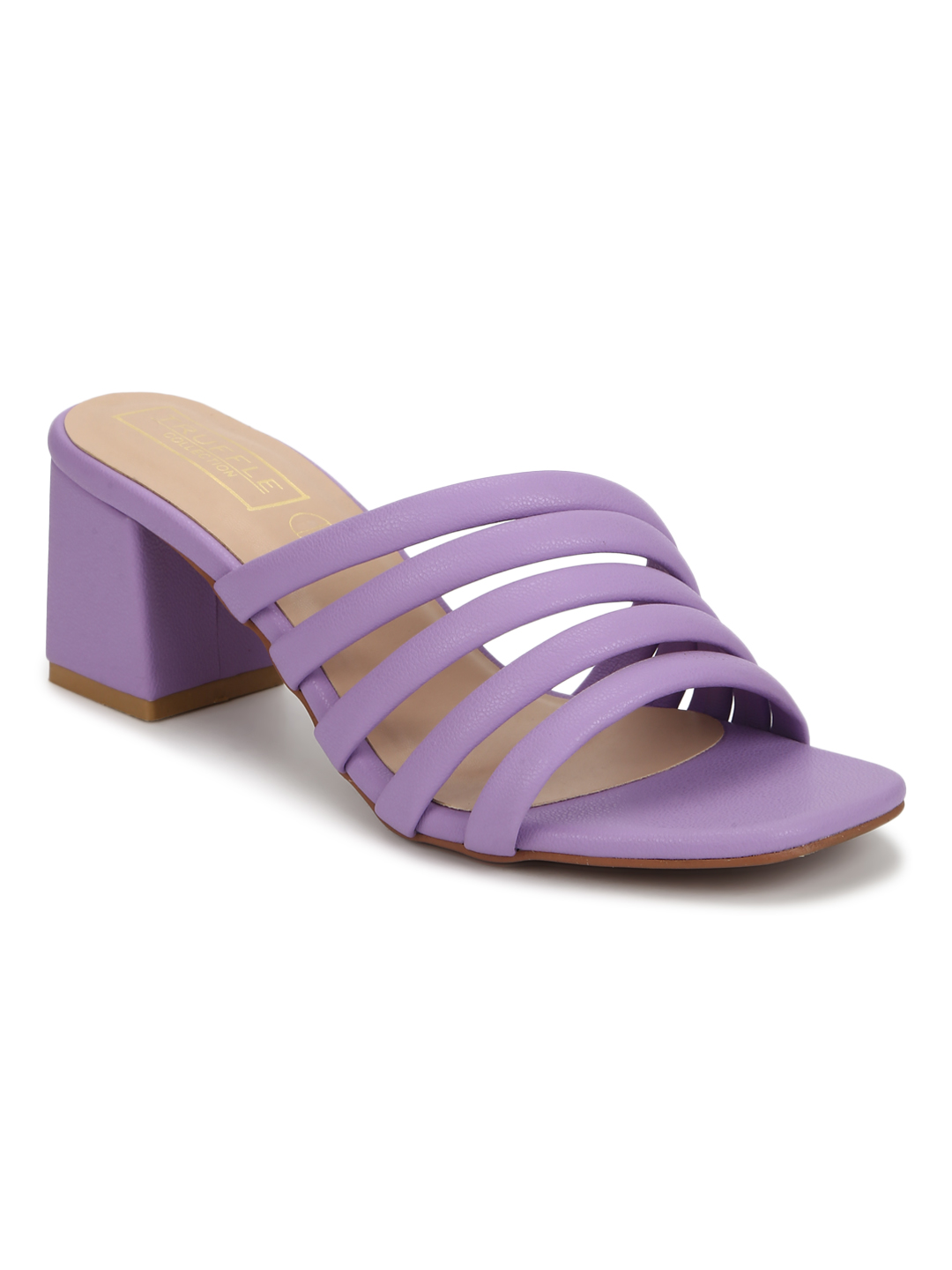 Truffle Collection | Truffle Collection Lilac Purple PU Strappy Mules