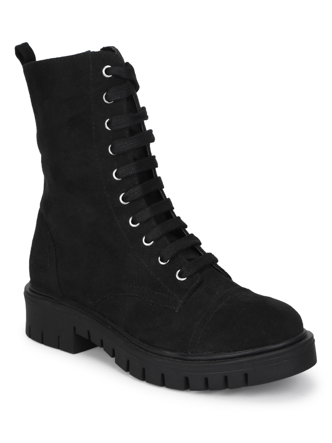 Truffle Collection | Truffle Collection Black Suede Lace Up Ankle Boots